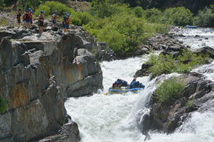 Overlooking Johny running the gear through the Tunnel Chute on the Middle Fork of the American River