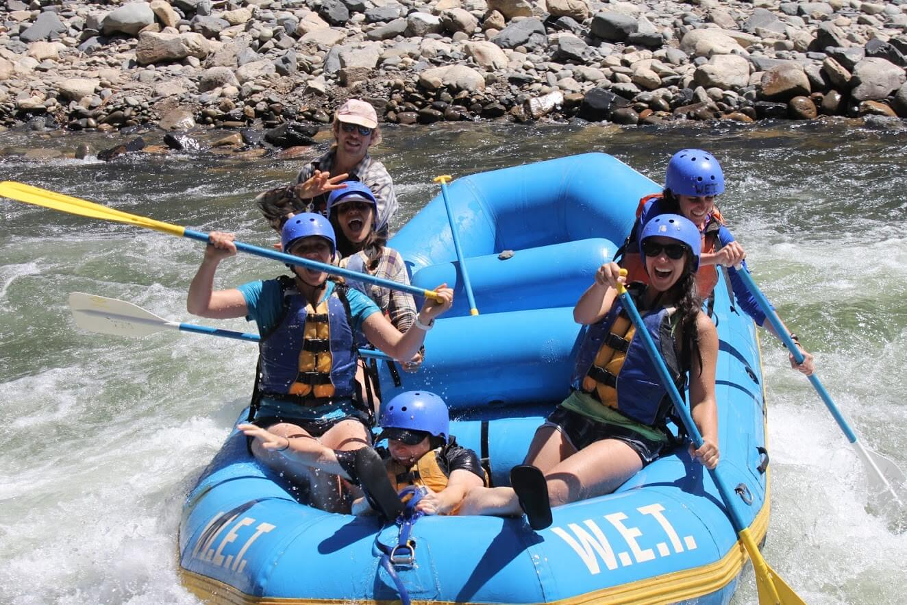 Daring to ride the bull through the Class III rapids on the South Fork of the American River