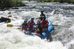 Families first rafting trip on the South Fork of the American River