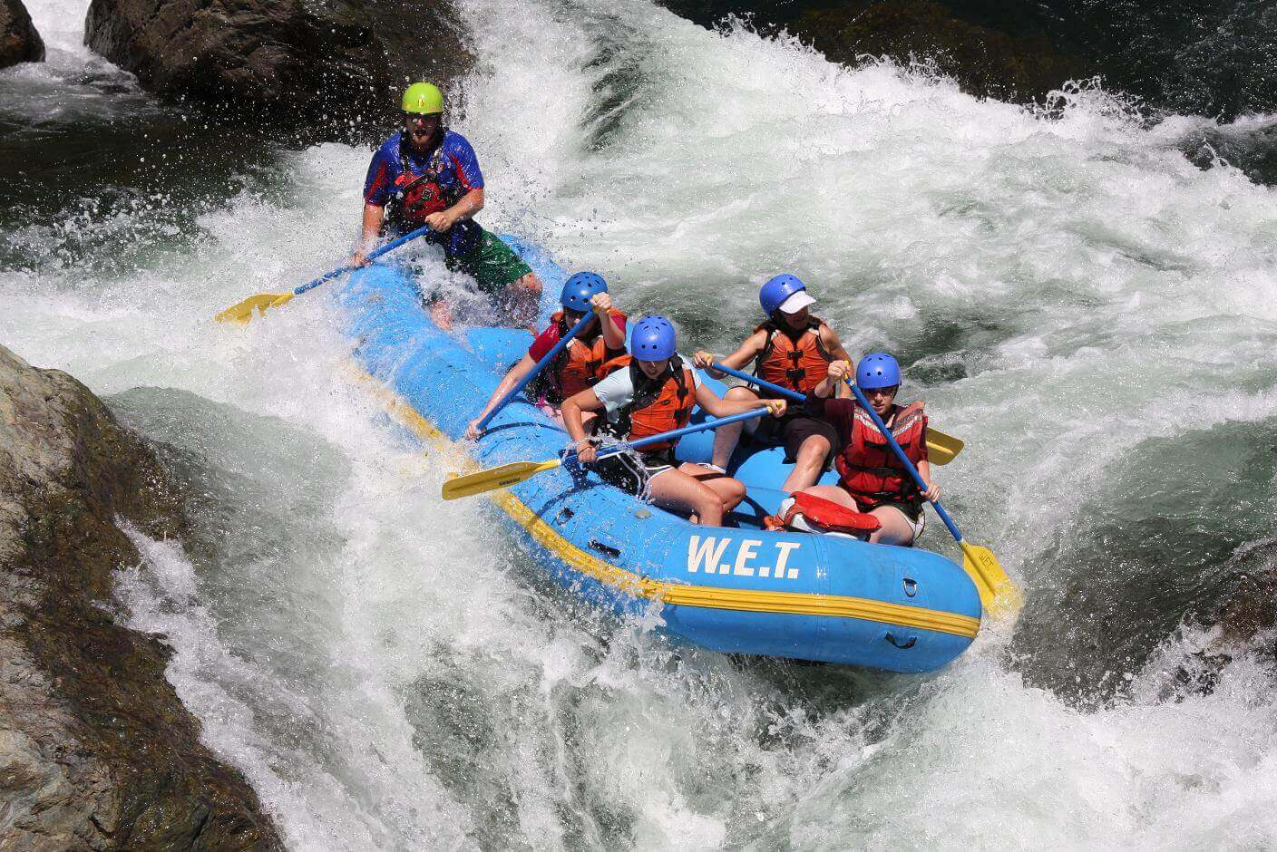 Testing their skills on Parallel Parking on the Middle Fork of the American River