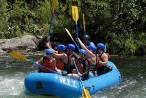 Celebratory paddle high fives