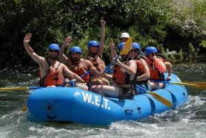Corporate team building rafting trip on the Middle Fork