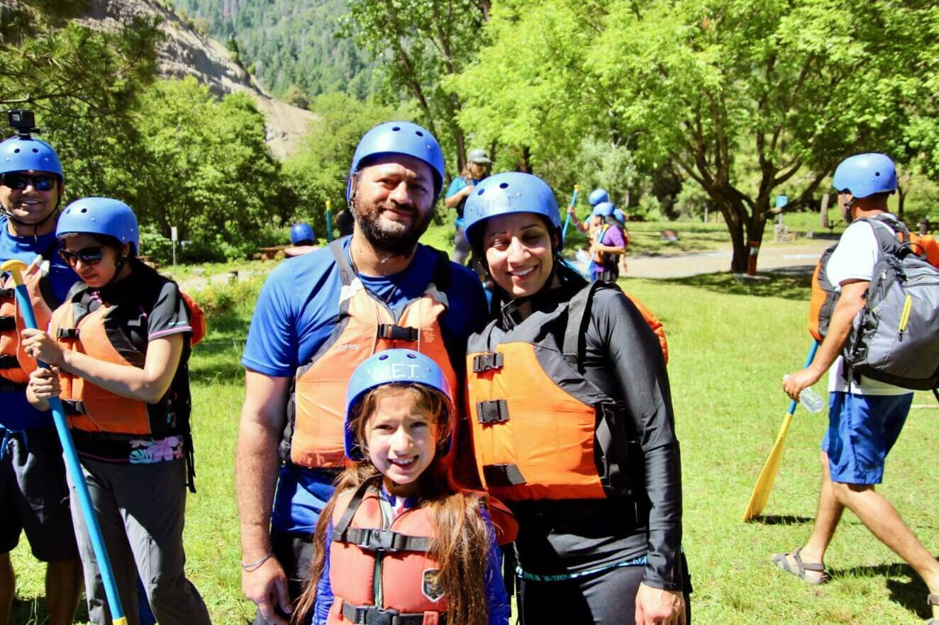 Pre-rafting family photo