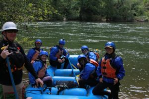Early Spring 2 day rafting trip put-in at Chile Bar on the South Fork of the American River