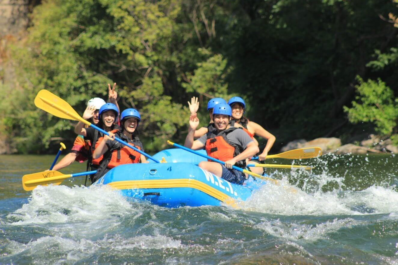Big smiles on Middle Fork of the American just before take out.